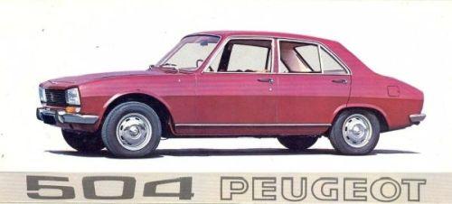 Peugeot 504 Saloon 1968 Brochure Cover