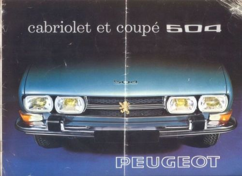 Peugeot 504 Coupe/Convertible 1969 Brochure Cover