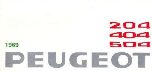 Peugeot Range 1969 Brochure Cover