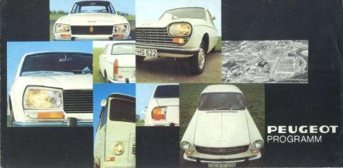Peugeot Range 1969 (?) Brochure Cover